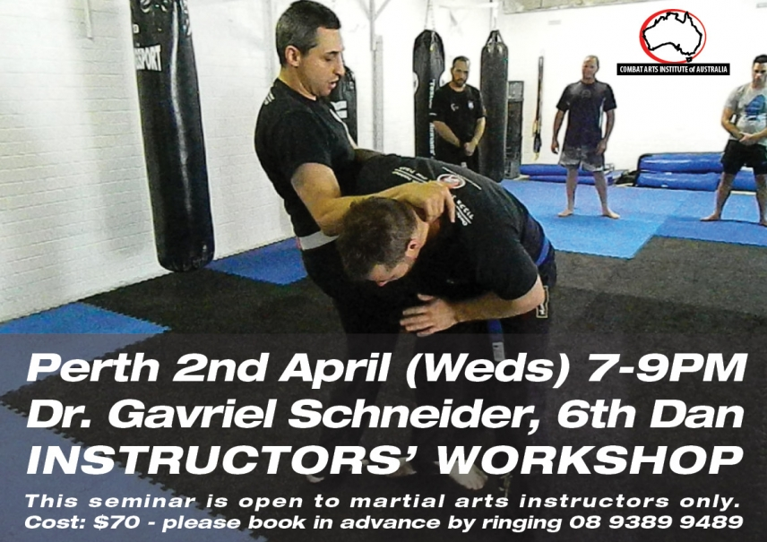 April 2 Dr Gavriel Schneider Instructors' Seminar