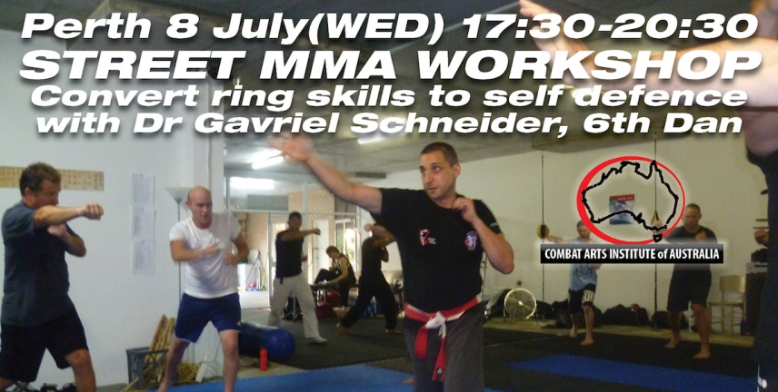 July 8 Perth Street MMA Workshop with Dr Gavriel Schneider